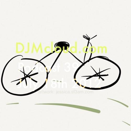 podcast 39 bike artwork by Jessica